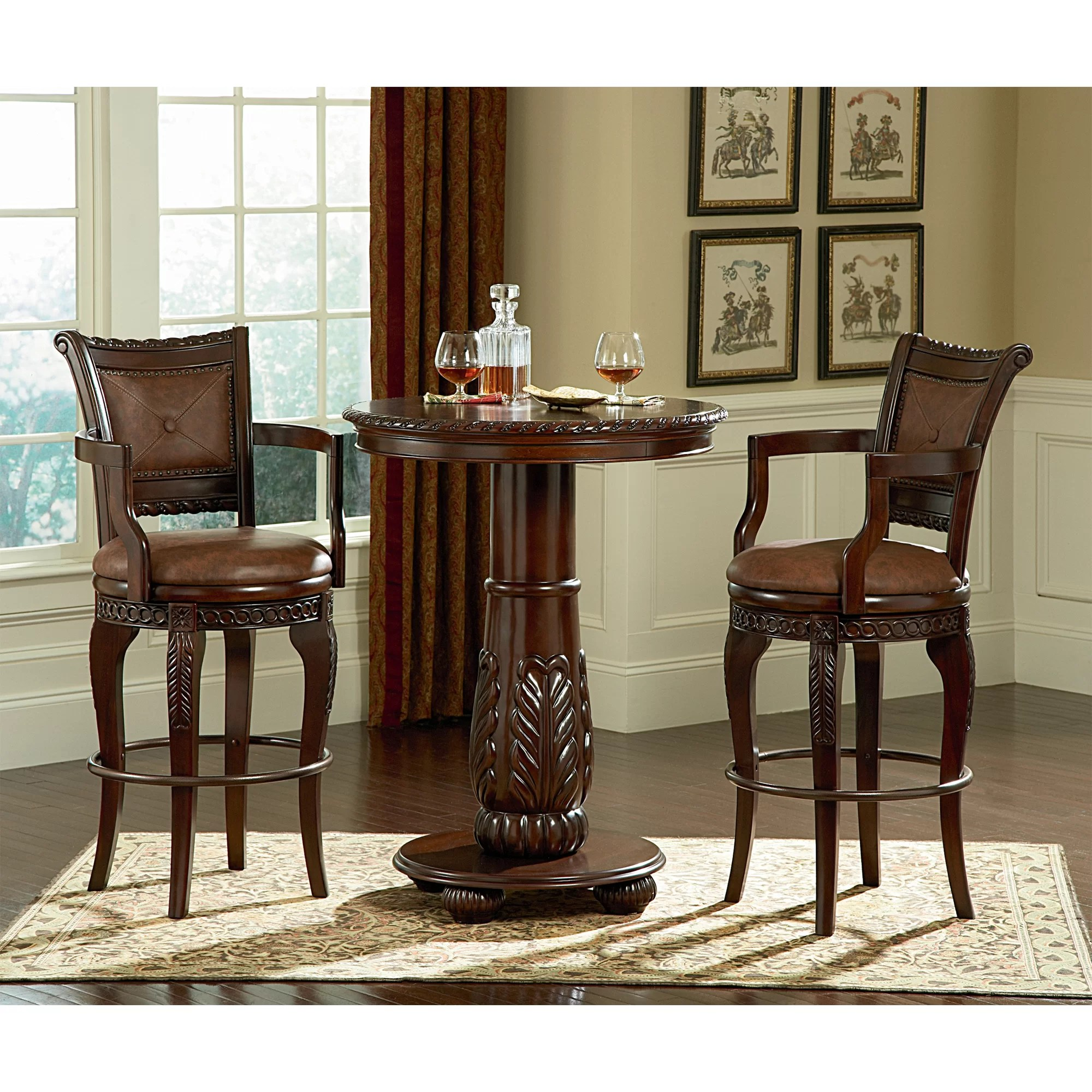 Silver Chairs Steve Silver Furniture Antoinette Pub Table Set And Reviews