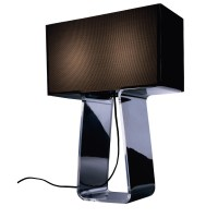 Pablo Designs Tube Top Table Lamp with Rectangular Shade ...