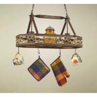 Hi-Lite Napa Hanging Pot Rack with 2 Lights & Reviews ...