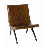 ARTERIORS Home Danforth Quilted Leather Side Chair ...