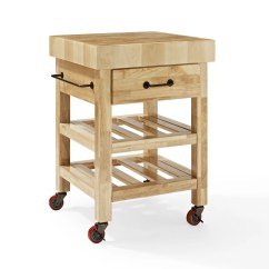 Butcher Block Kitchen Island Cart Small Sink Cabinet Crosley Marston With Wood Top