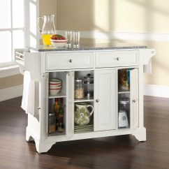 Granite Top Kitchen Island Espresso Crosley Lafayette With
