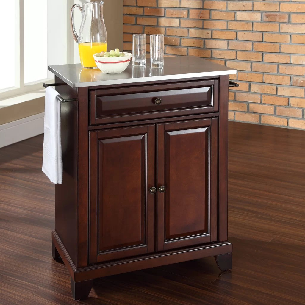 kitchen cart with stainless steel top cabinets for sale cheap crosley lafayette