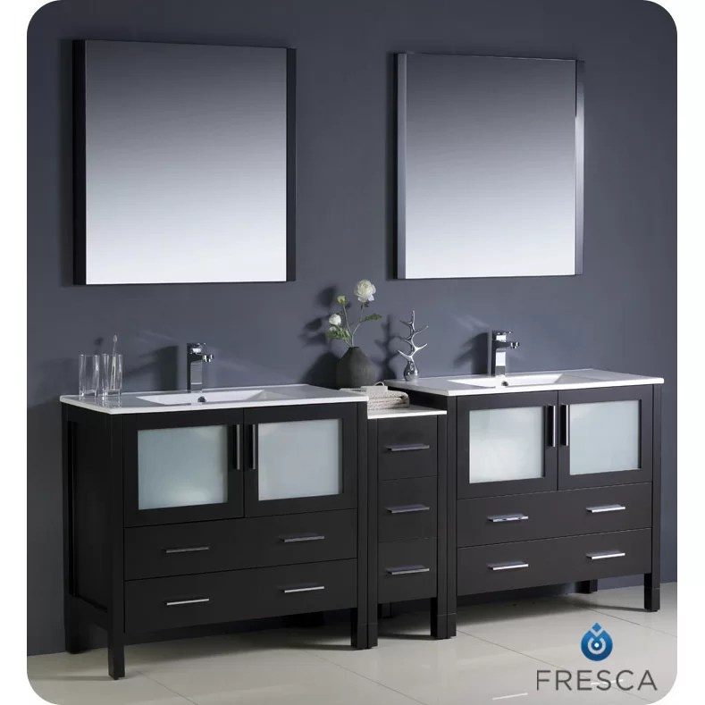 Fresca Torino 84 Double Modern Bathroom Vanity Set with