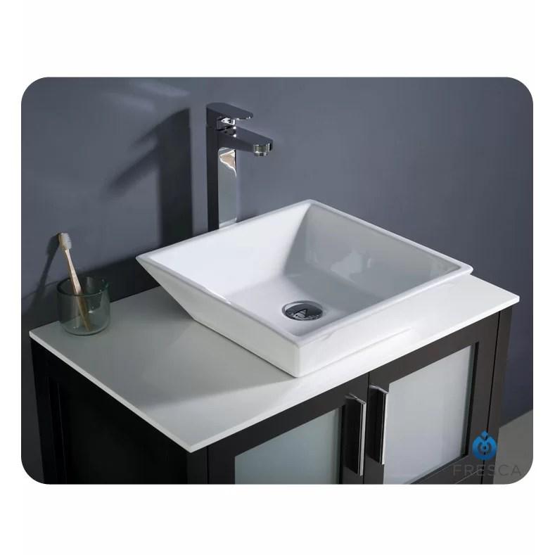 "Fresca Torino 30"" Single Modern Bathroom Vanity Set With"