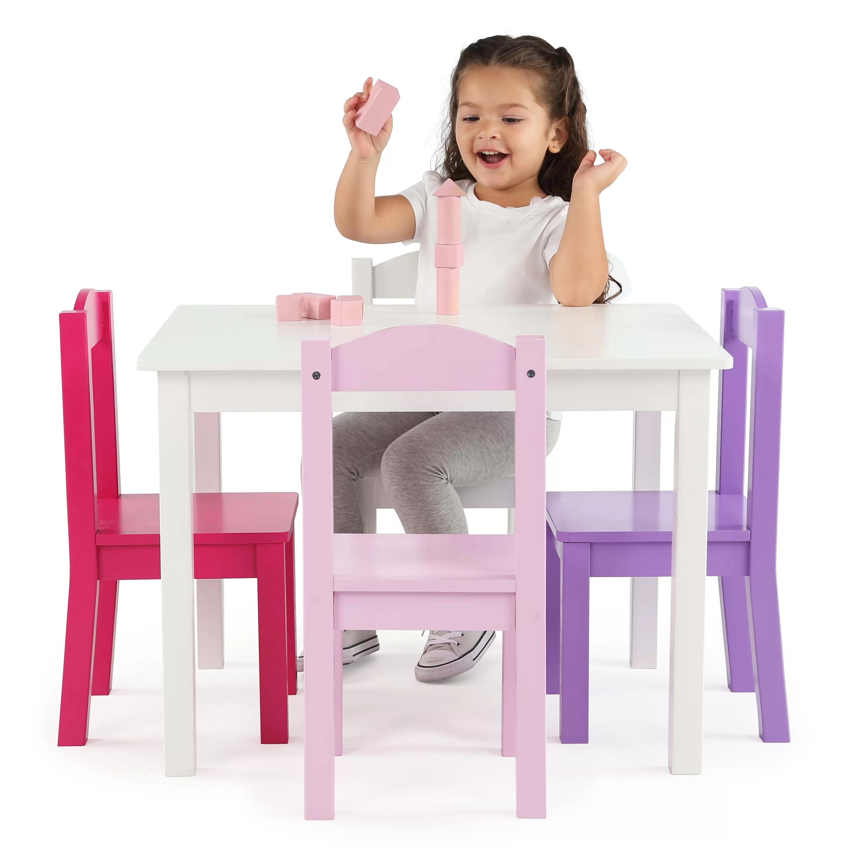 tot tutors table and chairs wassily chair reproduction kids 39 5 piece rectangle set