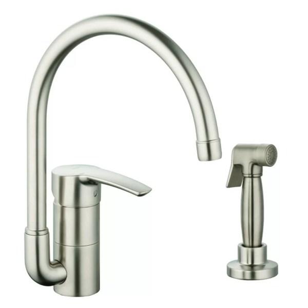 single hole kitchen faucet with side spray Grohe Eurostyle Single Handle Single Hole Standard Kitchen