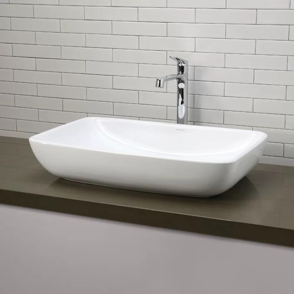 DECOLAV Classically Redefined Rectangular Vessel Bathroom