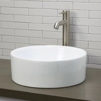 DECOLAV Classically Redefined Round Vessel Bathroom Sink ...