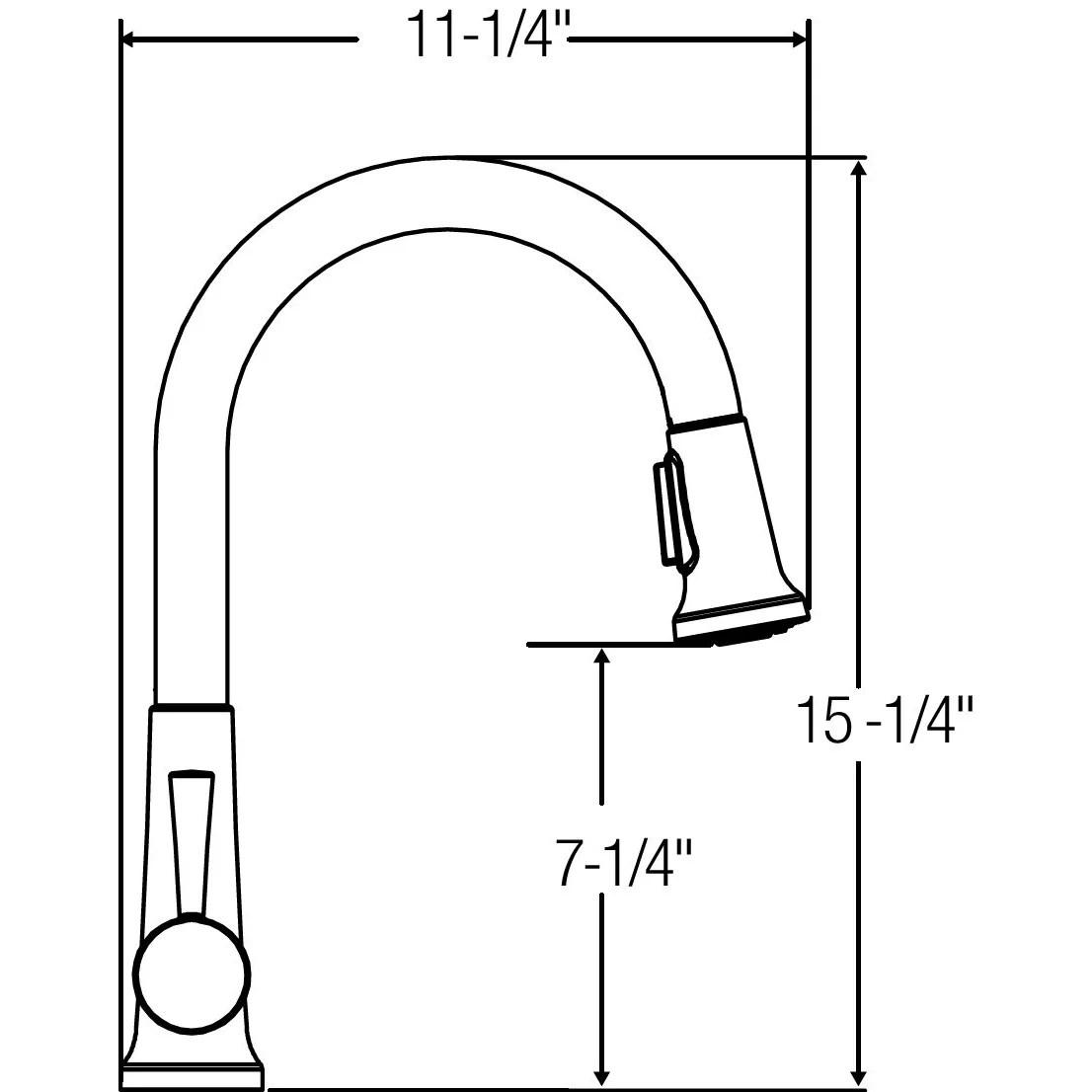 Elkay Everyday Single Handle Deck Mount Kitchen Faucet
