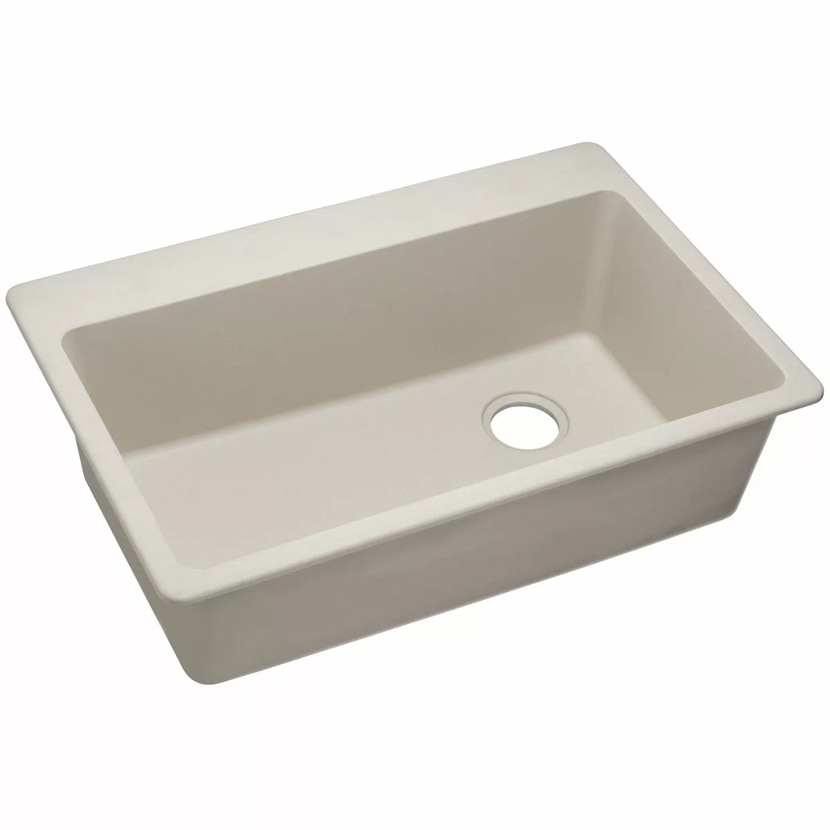 classic kitchen sink small ceiling ideas elkay quartz 33 quot x 22 single bowl top mount