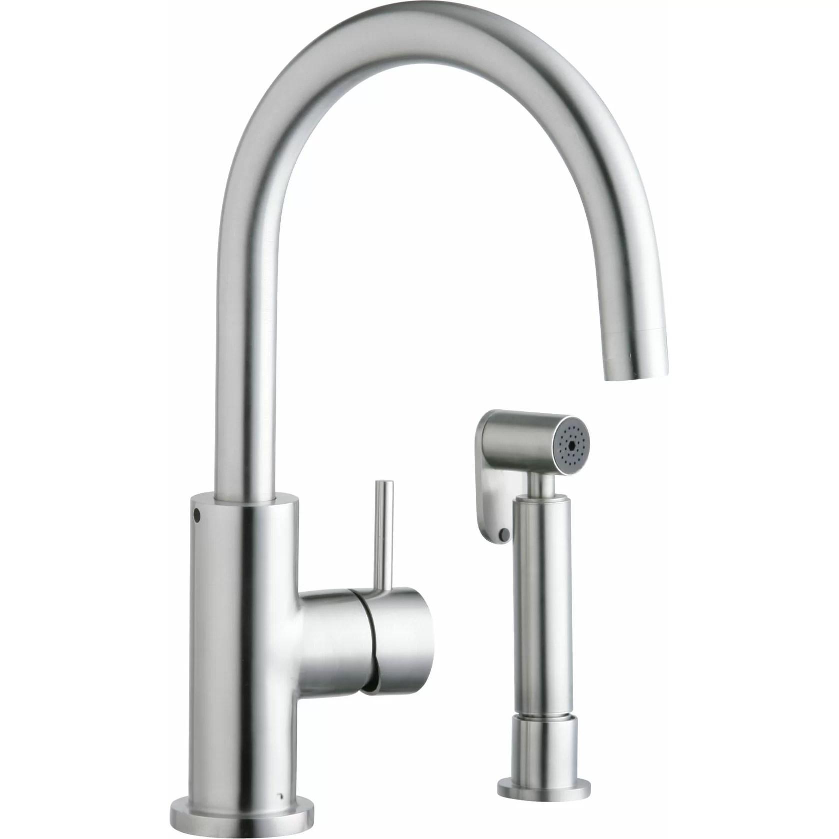 Elkay Allure Single Handle Deck Mount Kitchen Faucet