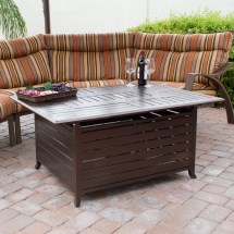 Az Patio Heaters Hammered Bronze Cast Aluminum Fire Pit