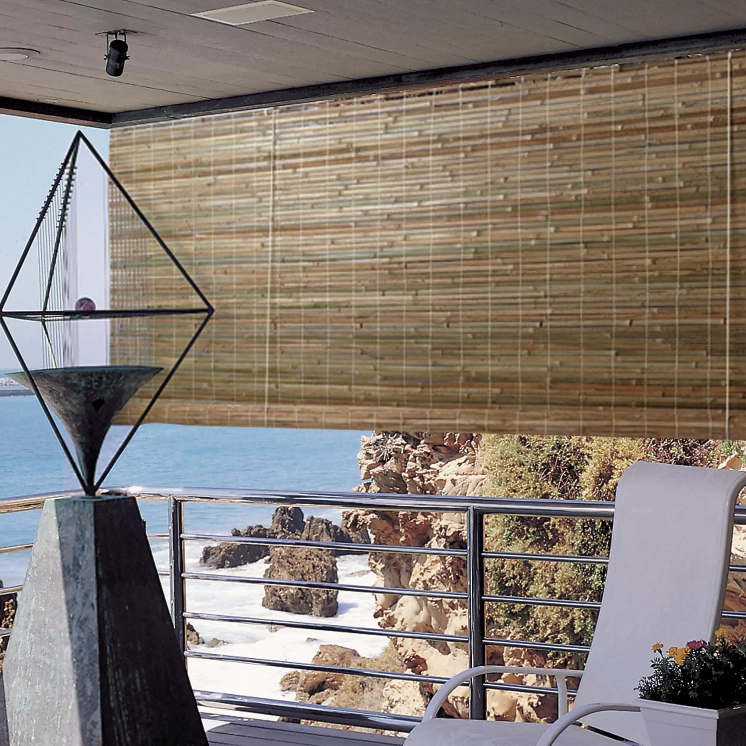 Radiance Laguna Outdoor Bamboo Rayon Roller Blind