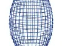AdecoTrading 2 Pieces Home Garden Accent Wire Round Stool ...