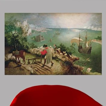 Landscape With The Fall Of Icarus Wallpaper Bruegel Landscape With The Fall Of Icarus 1555 Wall