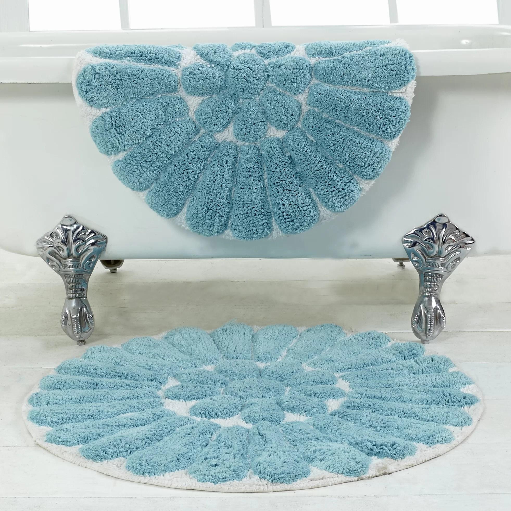 Bursting Flower 2 Piece Bath Rug Set  Wayfair