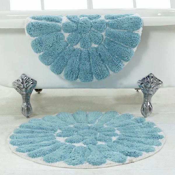 Bursting Flower 2 Piece Bath Rug Set
