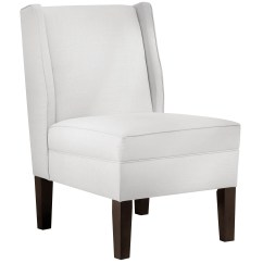 Cotton Wingback Chair Covers White Folding Chairs Nz Skyline Furniture Twill Side