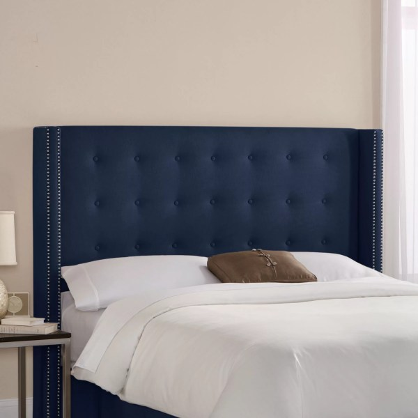 Tufted Wingback Upholstered Headboard