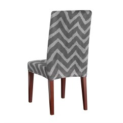 Sure Fit Parsons Chair Slipcovers Revolving Gem Stretch Chevron Dining Slipcover And Reviews