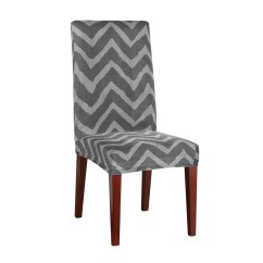 Stretch Dining Chair Covers Classic Designs Sure Fit Chevron Slipcover And Reviews