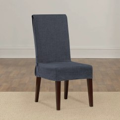 Linen Chair Covers Dining Room Pier One Rattan Cushions Shorty Slipcover Wayfair