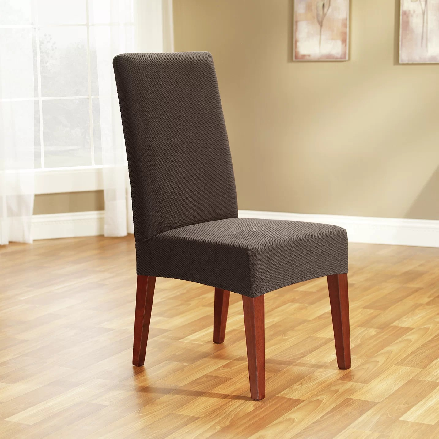 slipcovers for parsons chairs ergonomic chair in bangladesh sure fit honeycomb parson slipcover and reviews wayfair