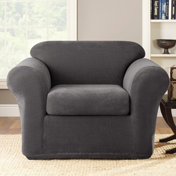 Sure Fit Stretch Metro 2-piece Armchair Slipcover &