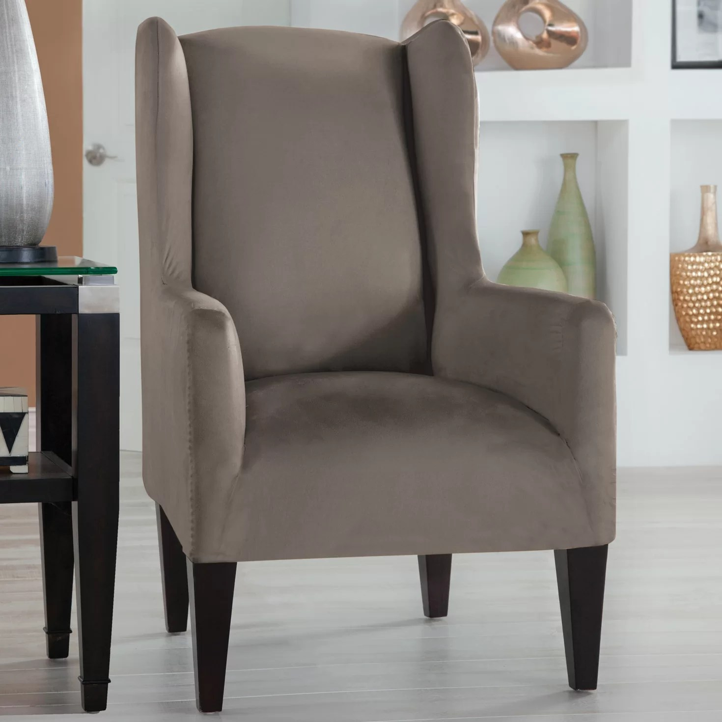 Tailor Fit Wingback Chair Slipcover  Wayfair
