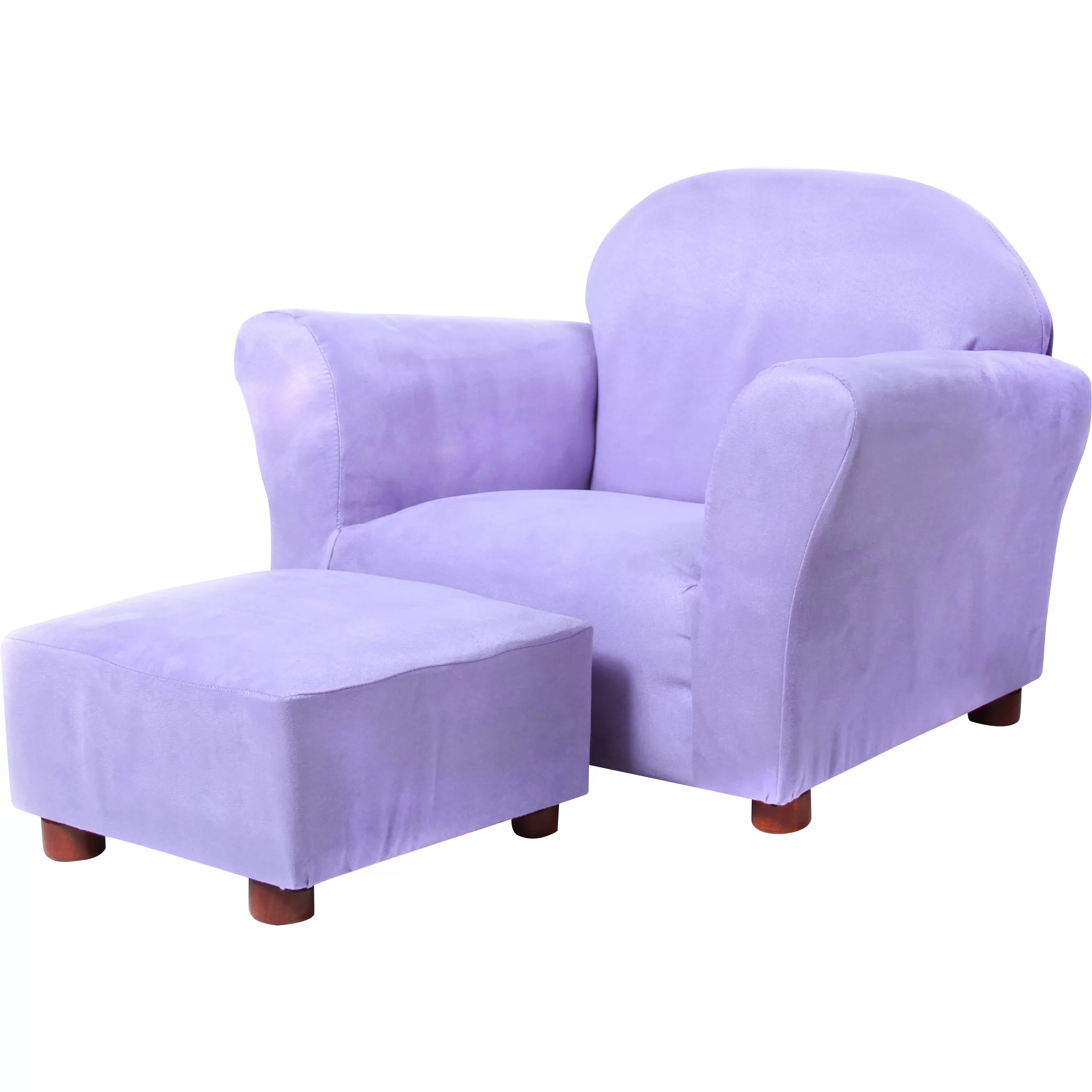 kids chair and ottoman personalized kid roundy club wayfair