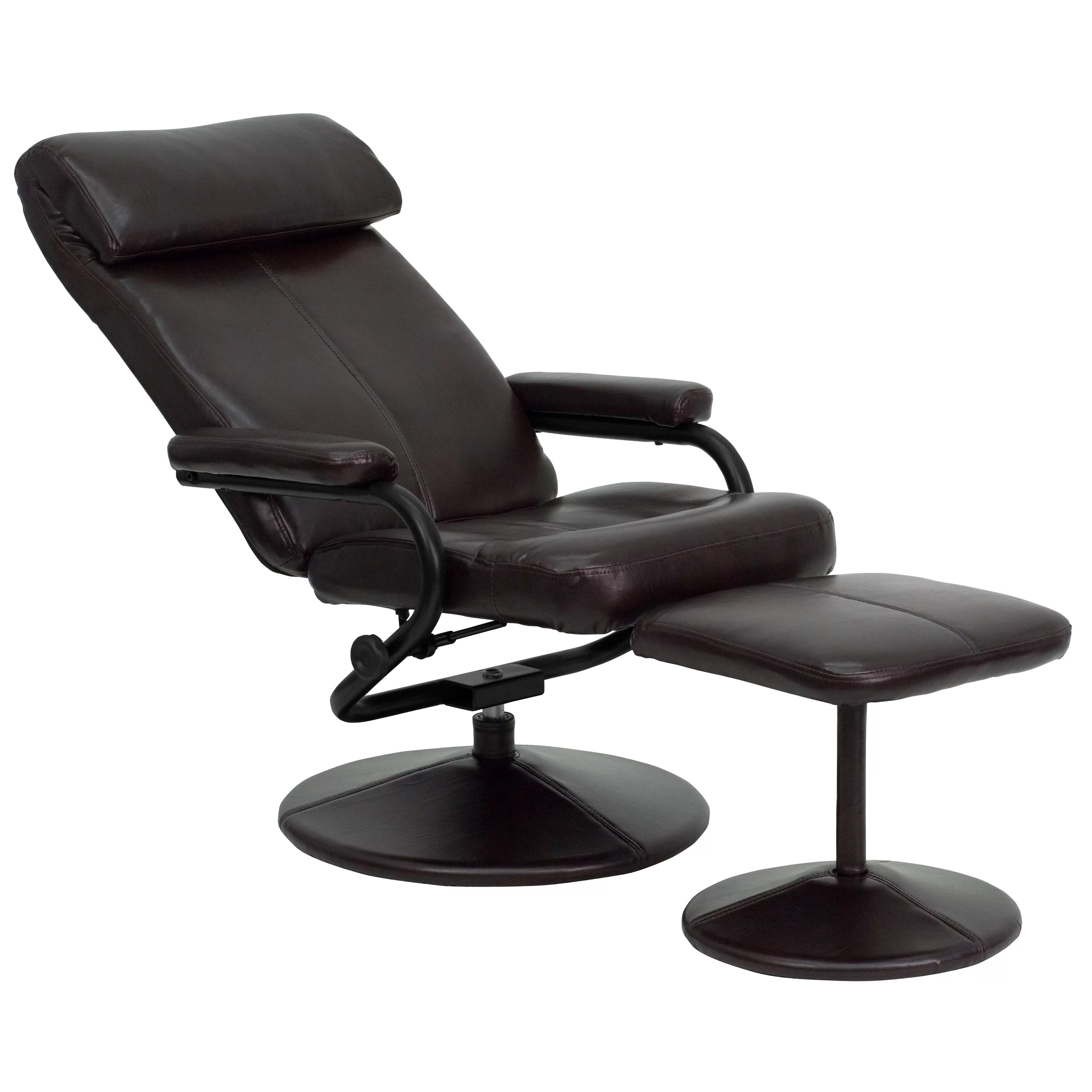 modern leather chair and ottoman covers dollar store flash furniture contemporary recliner