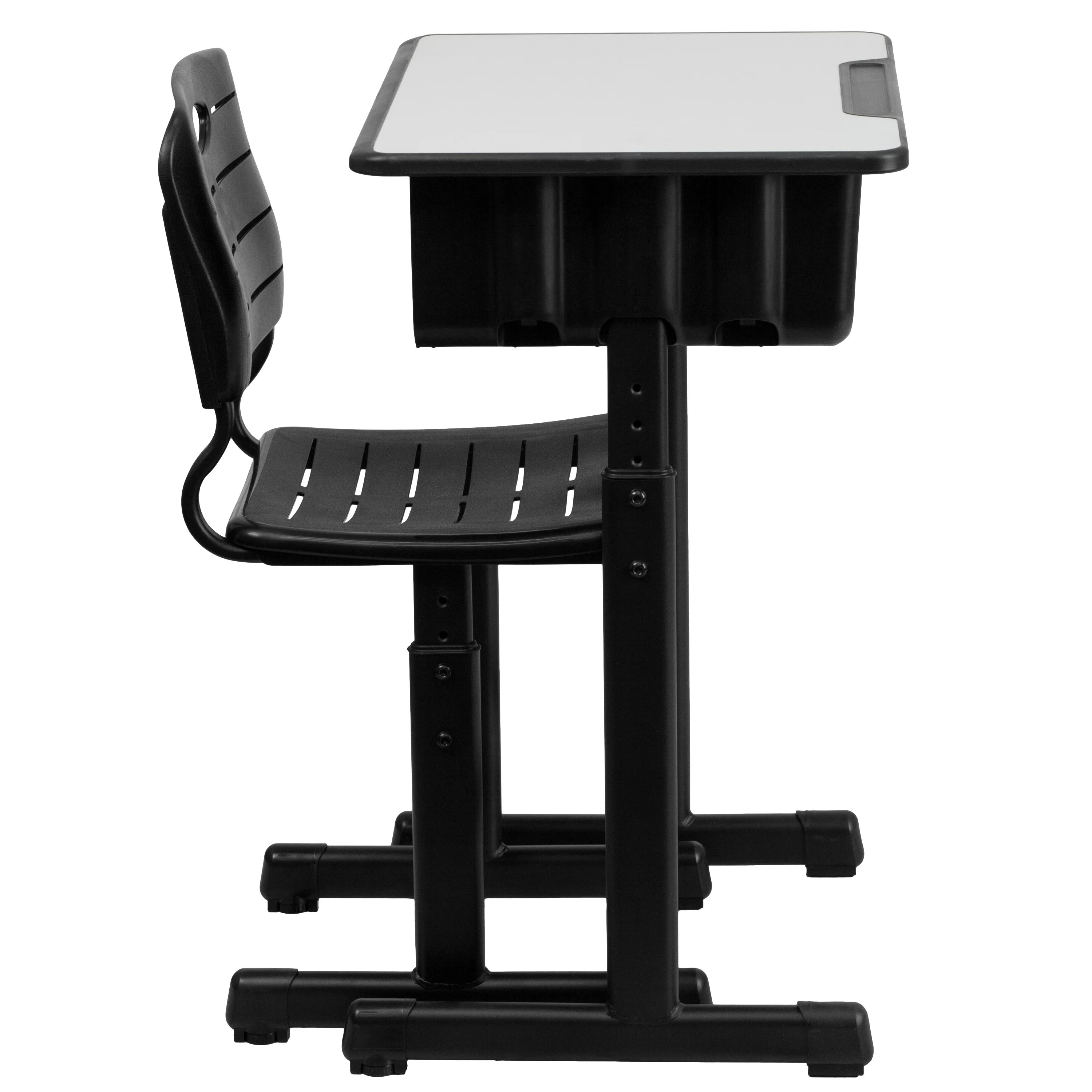 Student Desk And Chair Set Laminate Adjustable Height Combo Desk Wayfair