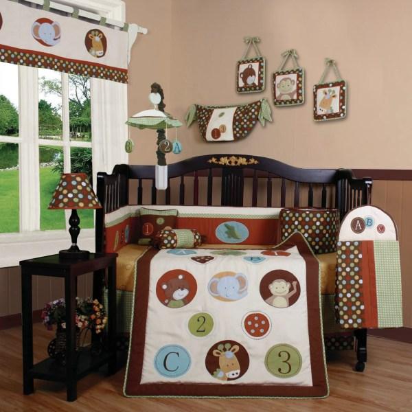 Geenny Boutique Animal Scholar 13 Piece Crib Bedding Set &