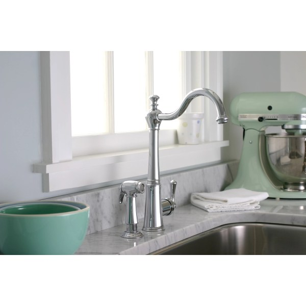 single hole kitchen faucet with side spray Premier Faucet Sonoma One Handle Single Hole Kitchen
