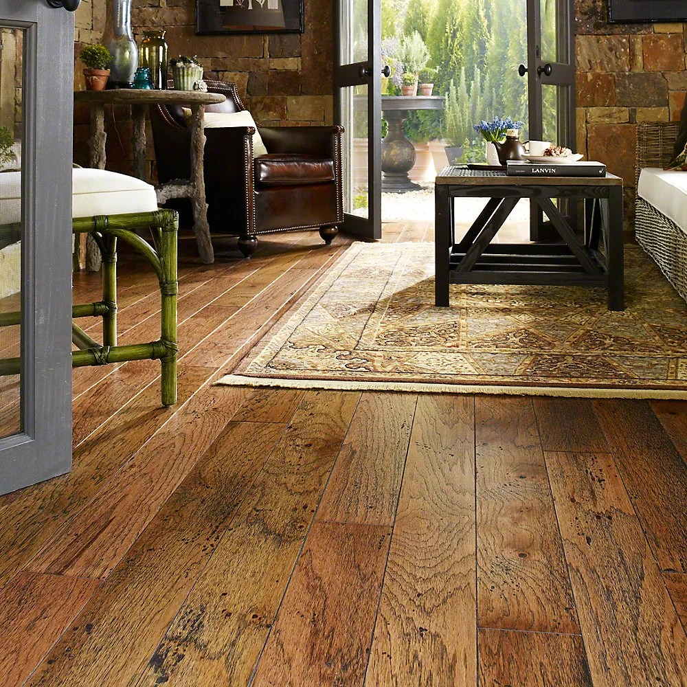 Wildon Home  Epic 5 Engineered Hickory Hardwood Flooring in Burnt Sugar  Reviews  Wayfair