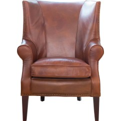 Oxblood Leather Wing Chair Red Retro Kitchen Chairs Brayden Wingback Wayfair