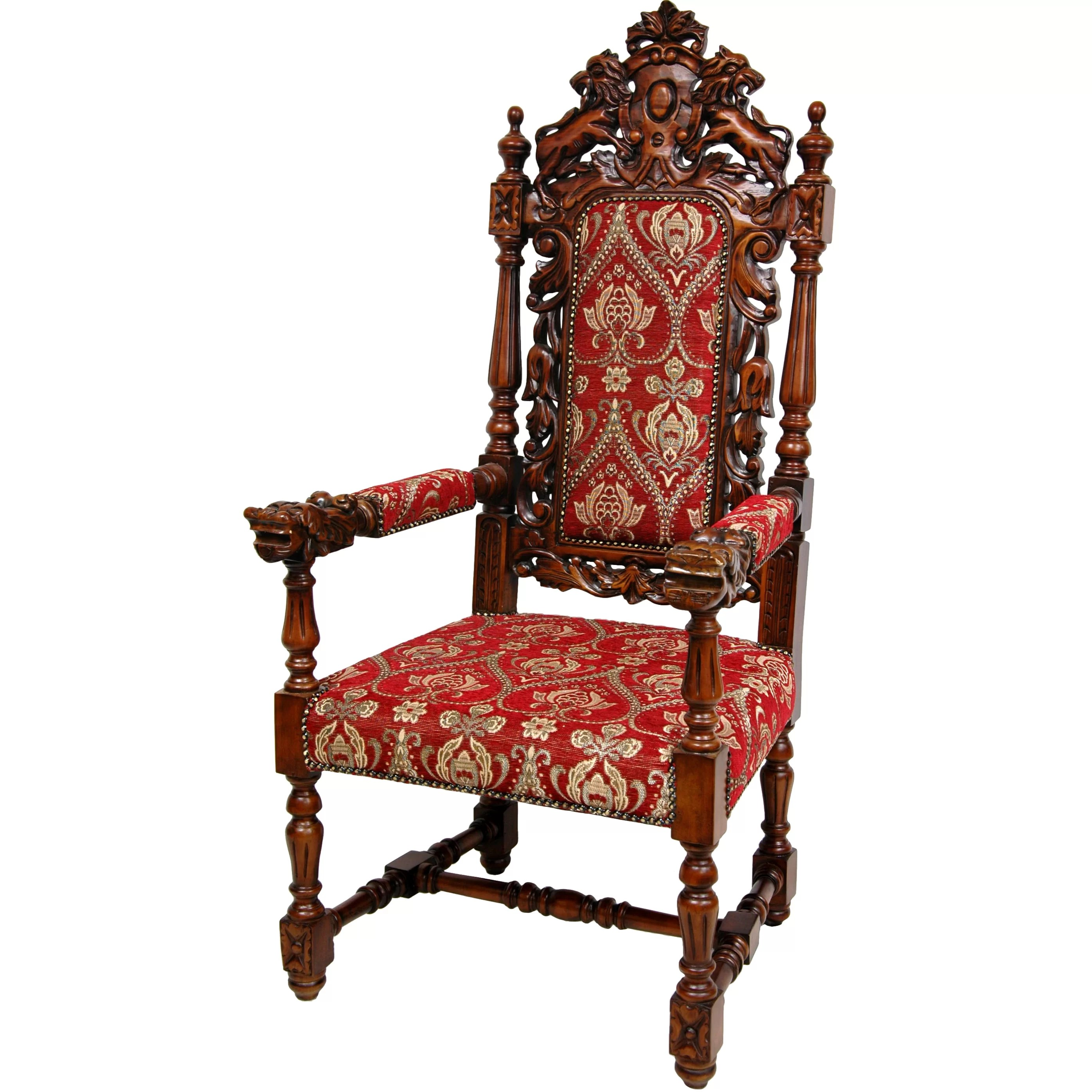 Queen Chairs Queen Anne Parlor Fabric Arm Chair Wayfair
