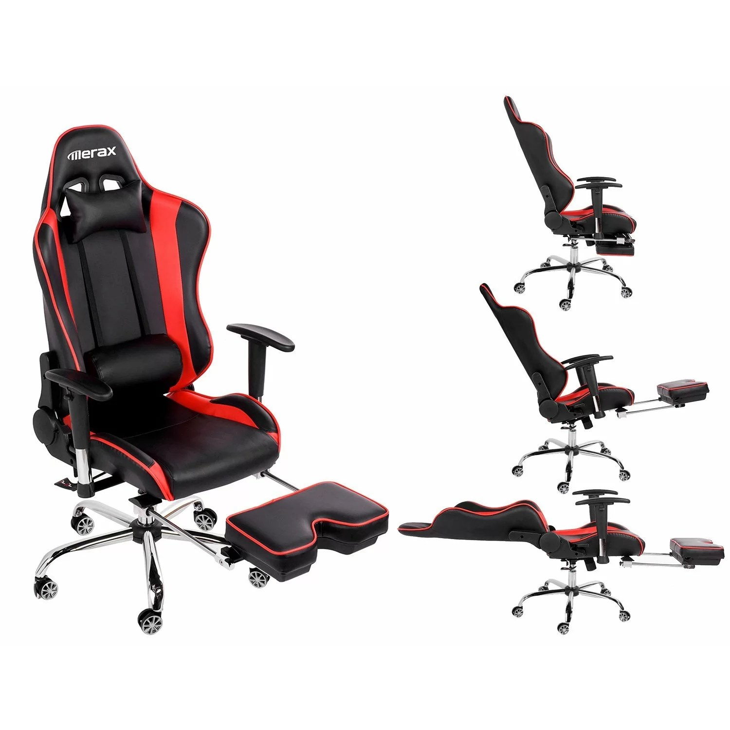 comfy pc gaming chair folding grey merax big and tall back ergonomic racing style computer