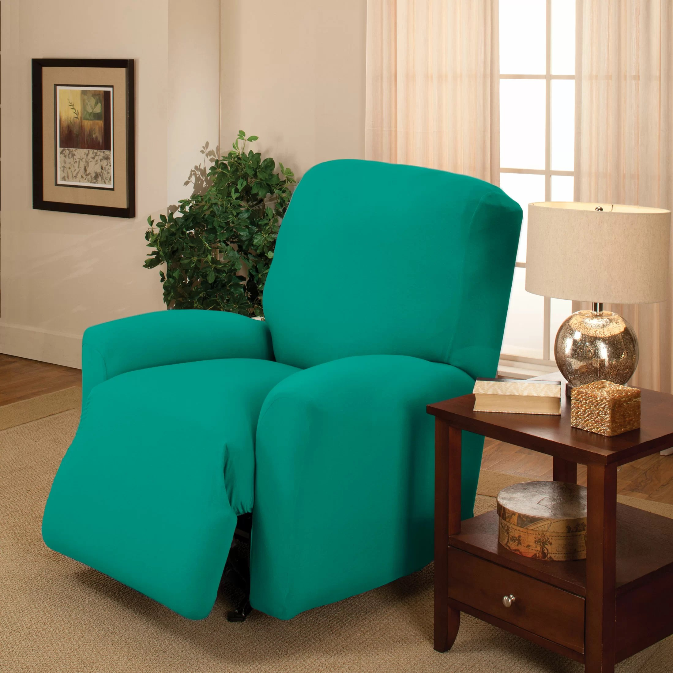 Large Chair Slipcovers Madison Home Stretch Jersey Large Recliner Slipcover