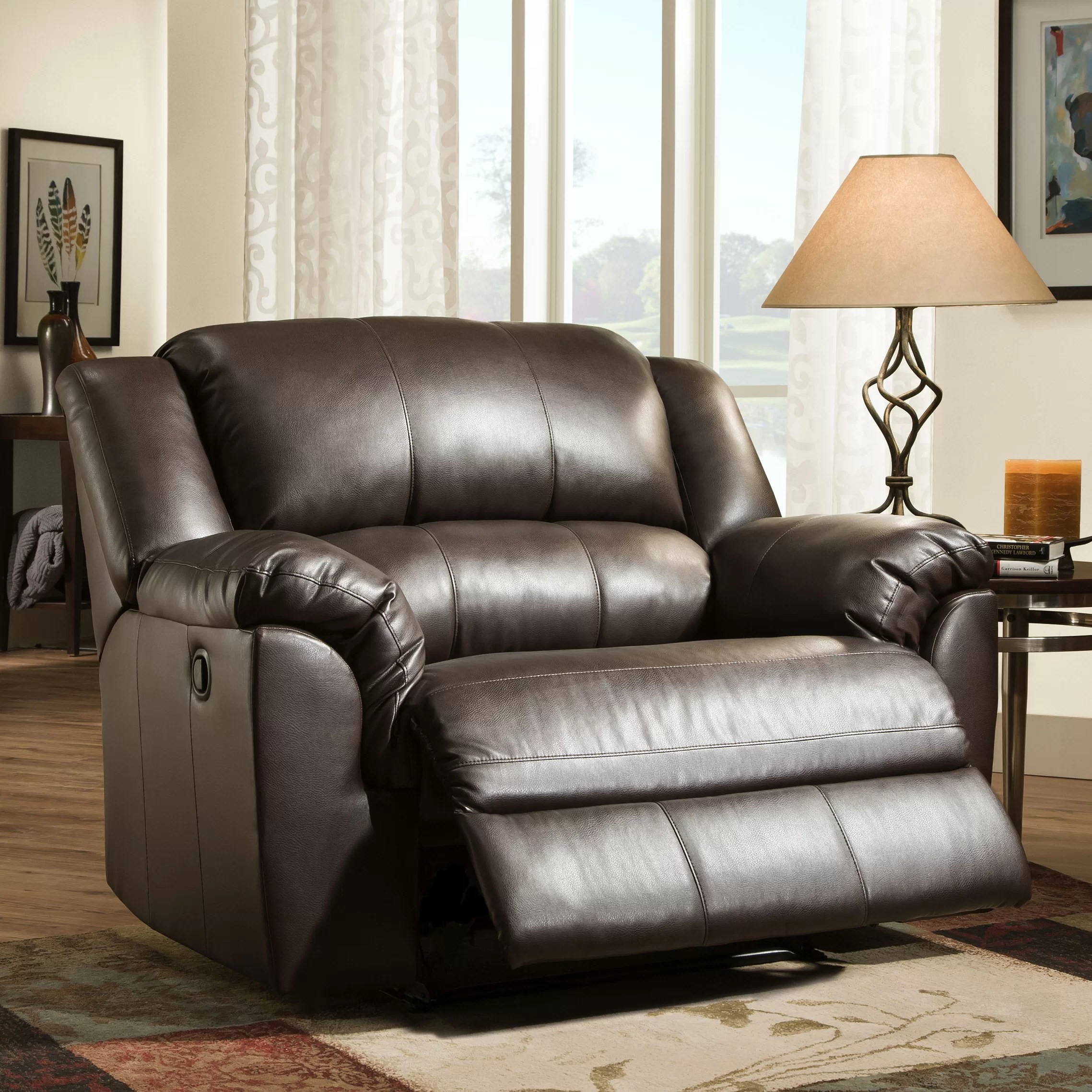 Double Wide Recliner Chair Cuddler Recliner Wayfair