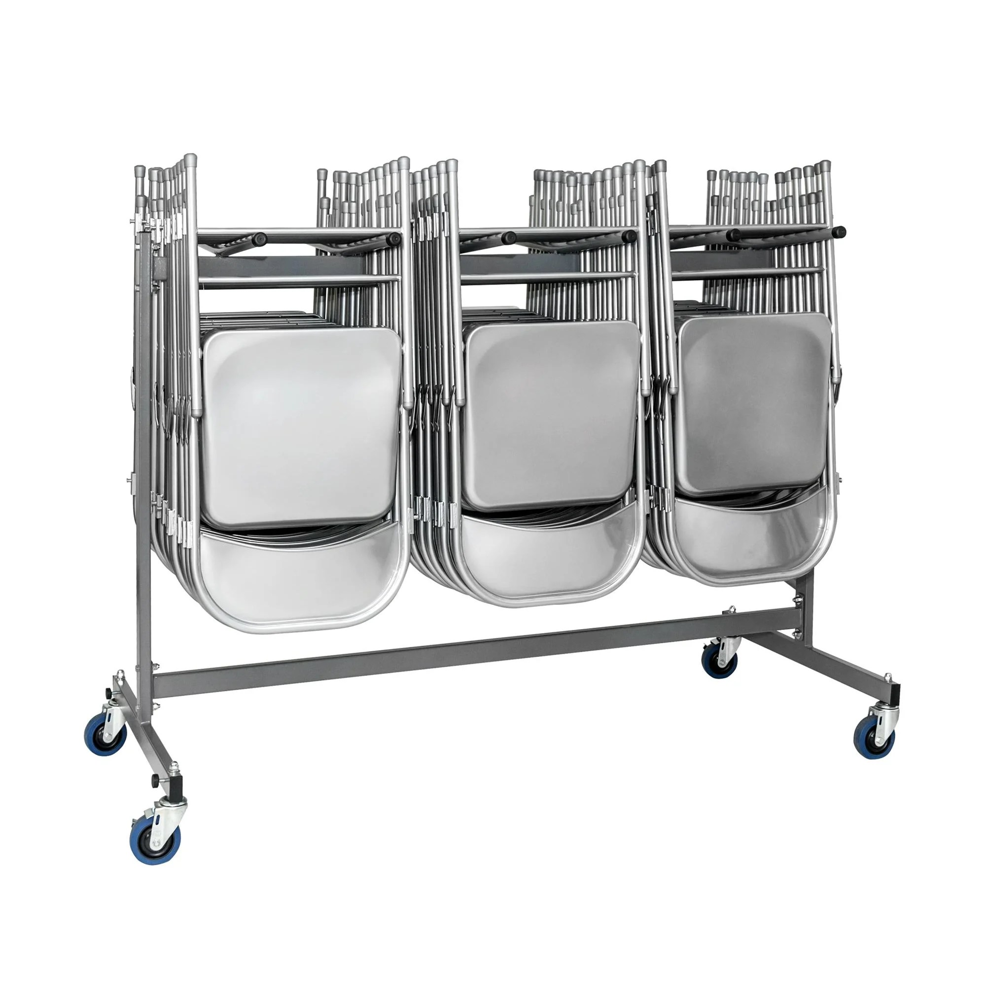 banquet chair trolley heavy duty portable classic 48 6 quot x 68 9 31 1 gray folding