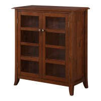 Simpli Home Devon Medium Storage Cabinet & Reviews | Wayfair