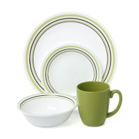 Corelle Livingware Garden Sketch Bands 16 Piece Dinnerware ...