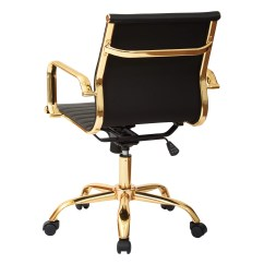 Office Chair Gold Antique Louis Xvi Chairs Mid Back Executive With Arms Wayfair