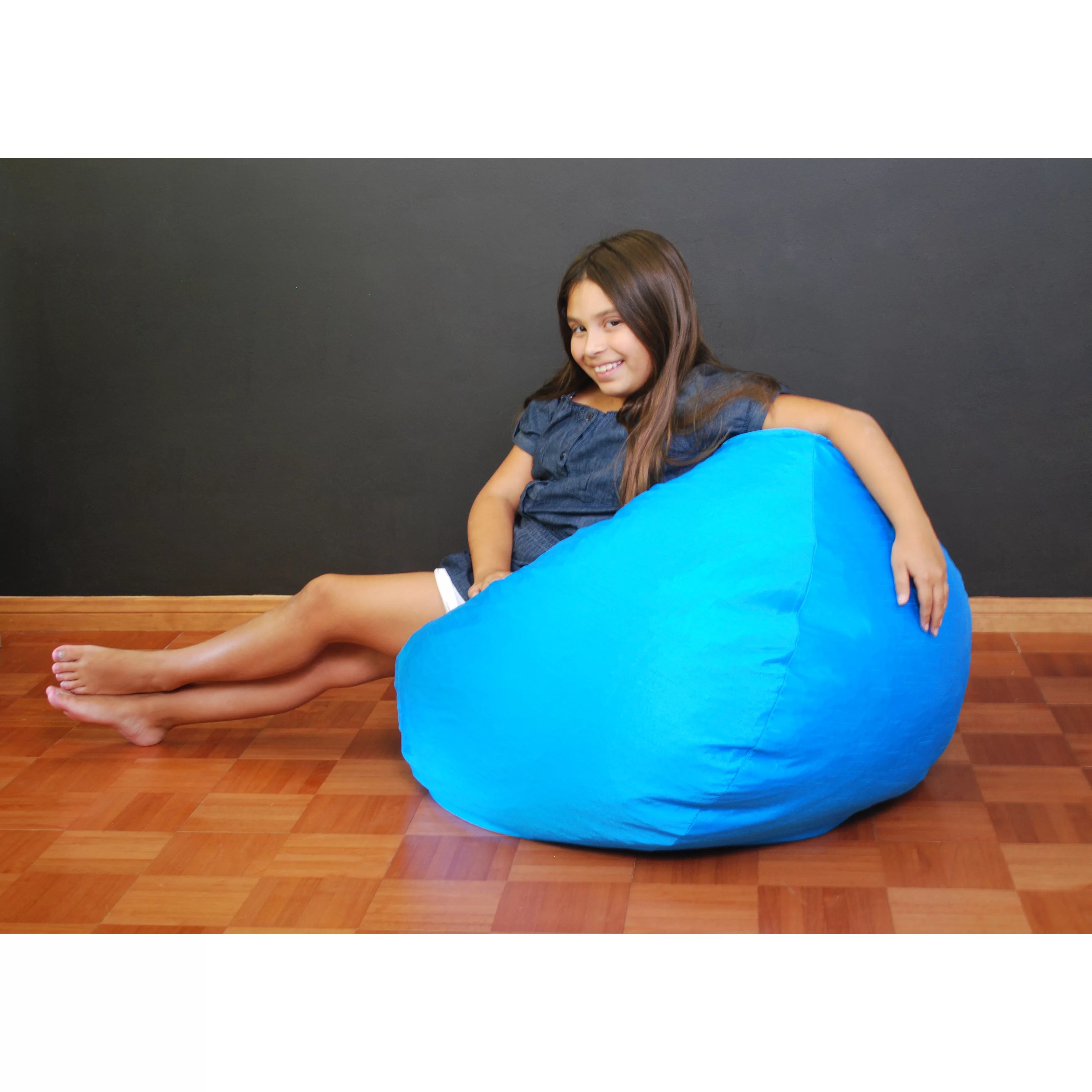 blue bean bag chair ikea kivik fun factory wayfair