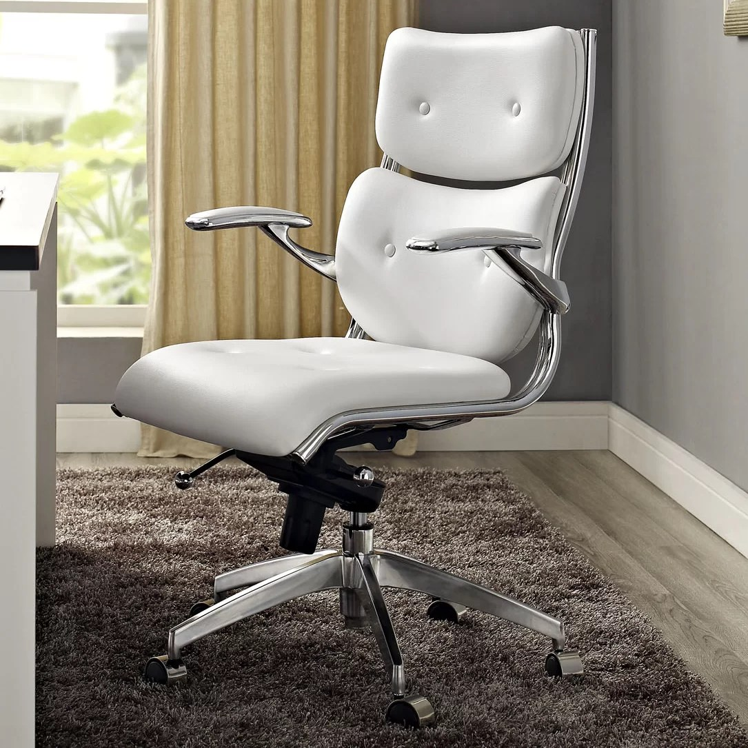 Office Chair With Arms Push Mid Back Office Chair Wayfair