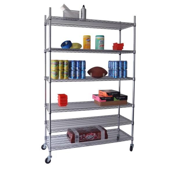 """Nsf 77"""" 5 Shelf Shelving Unit Starter"""