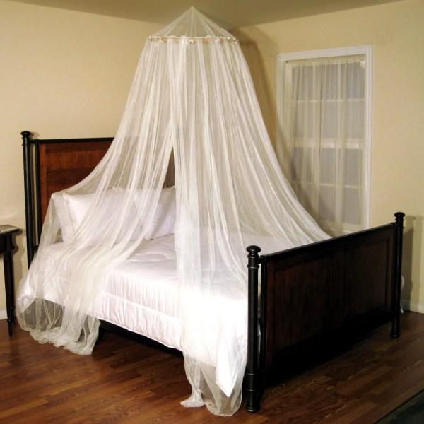 Oasis Hoop Sheer Bed Canopy Net