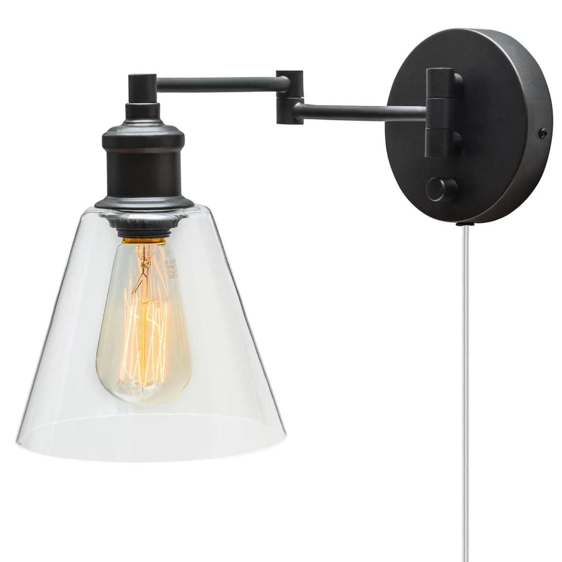 Dainolite Lighting DGUW224 Modern PlugIn Wall Sconce ...